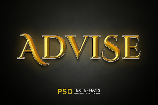 Advise text style effect