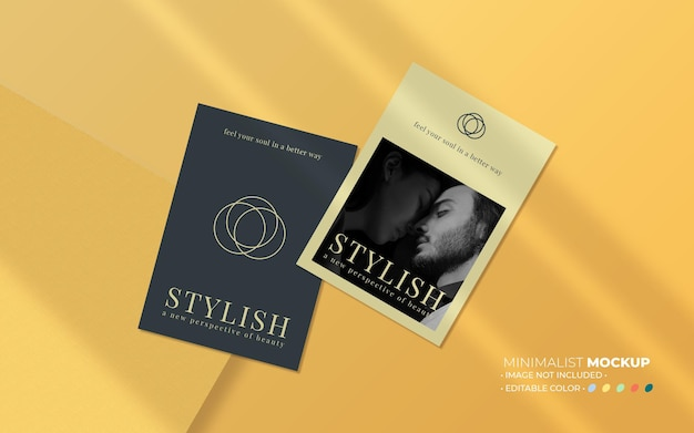 Aesthetic flyer mockup composition