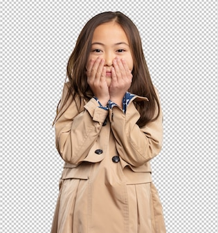 Afraid chinese little girl