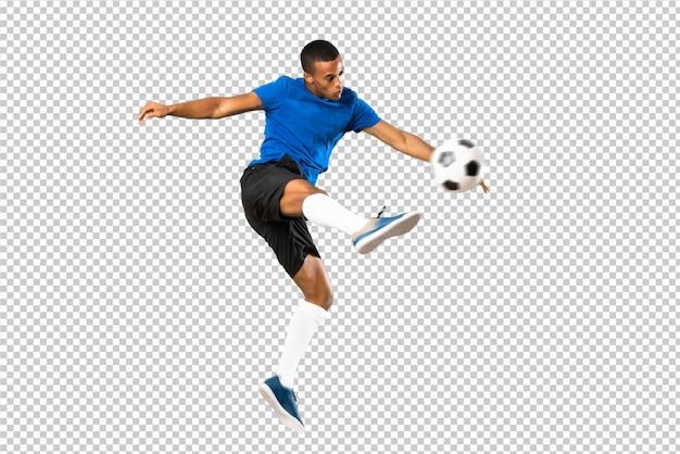 Афро-американский футболист человек