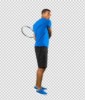 African american tennis player man