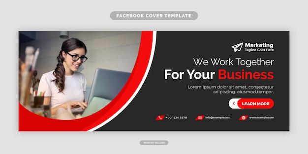 Agency modern facebook cover design template