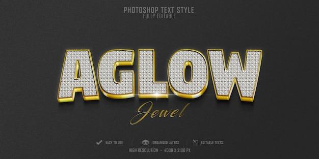 Aglow 3d 텍스트 스타일 효과 템플릿 디자인