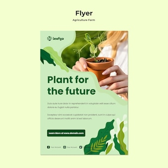 Шаблон флаер концепция сельского хозяйства