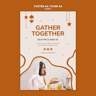 Aidilfitri poster template concept