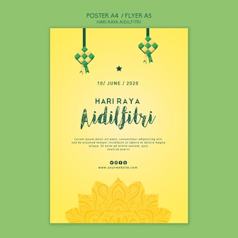 Aidilfitri poster template