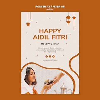 Шаблон постера aidilfitri