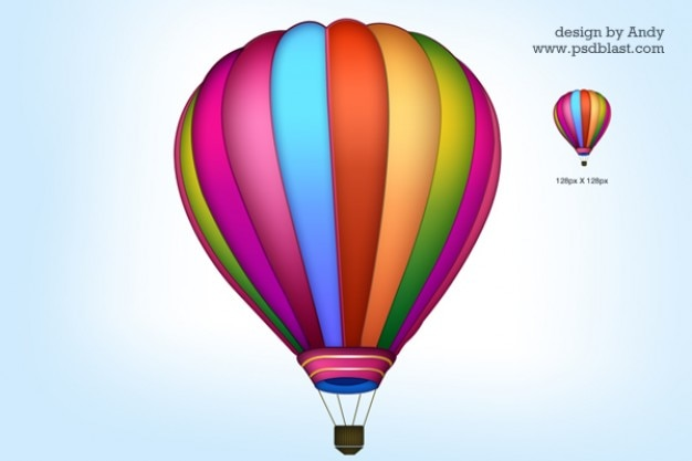 Air balloon icon psd