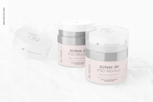 Airless jars mockup