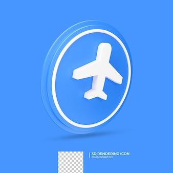 Самолет 3d визуализации дизайн иконок