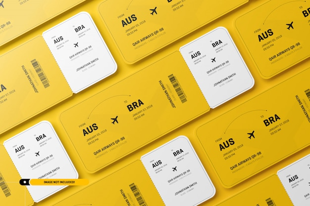 Airplane tickets mockup