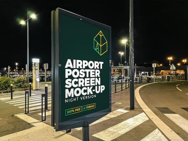 공항 야간 거리 광고판 모형