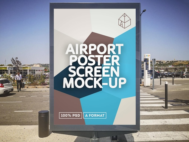 空港ポスター画面モックアップ