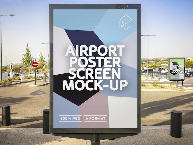Airport poster screen
