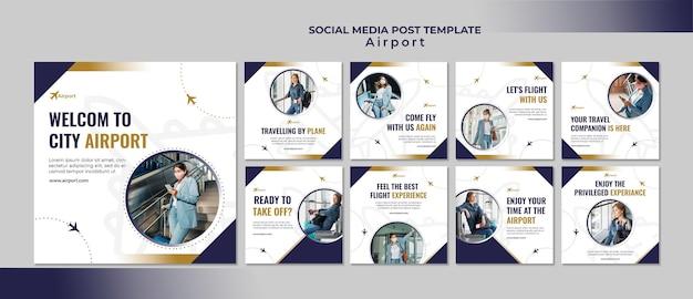 Шаблон оформления сообщений в социальных сетях аэропорта