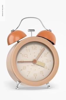 Alarm clock mockup, front view