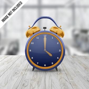 目覚まし時計のモックアップ