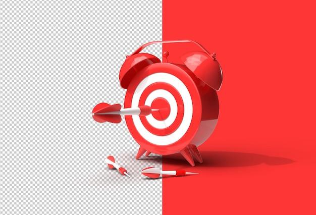 Будильник target со стрелкой управление временем, планирование, бизнес-таргетинг. прозрачный файл psd.