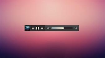Album art dark micro minimal music player