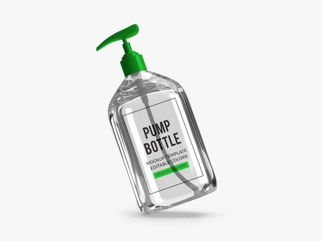 Дизайн макета бутылки насоса геля спирта изолированные