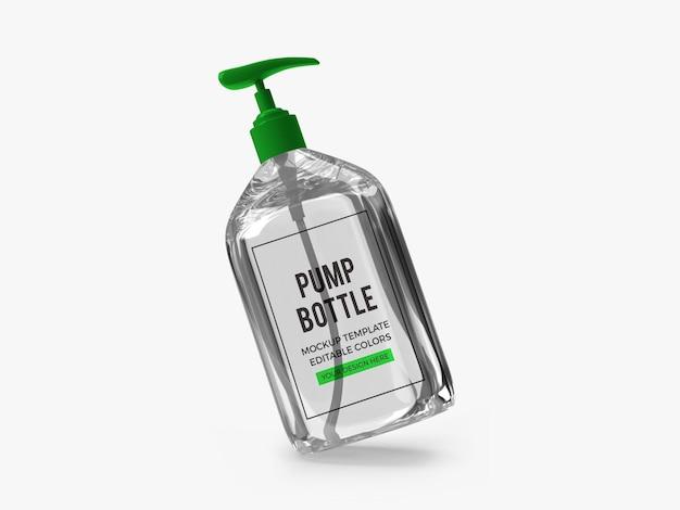 Мокап бутылки с гелевым насосом для алкоголя