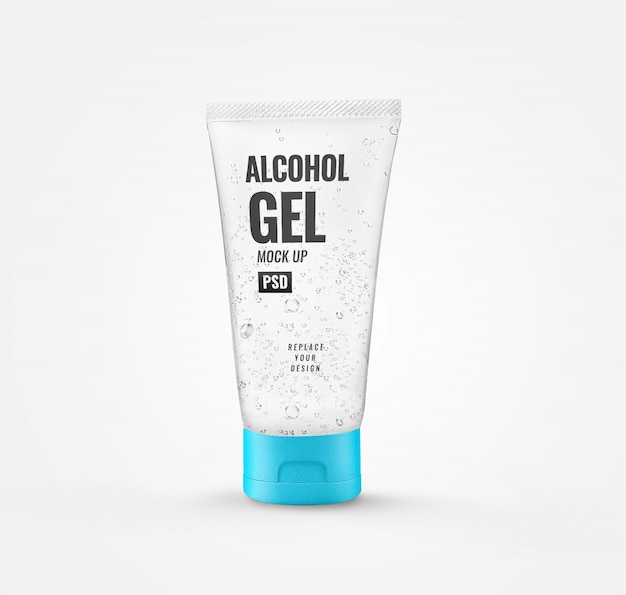 Alcohol gel tube sanitizer mockup