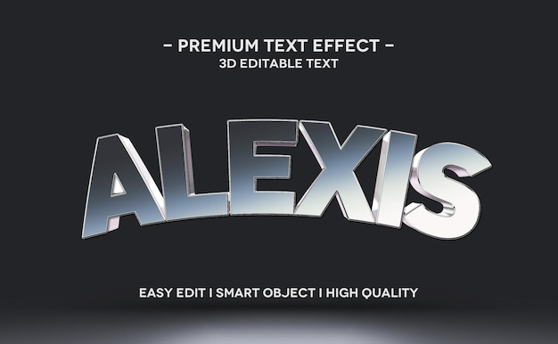 Alexis 3d text style effect template