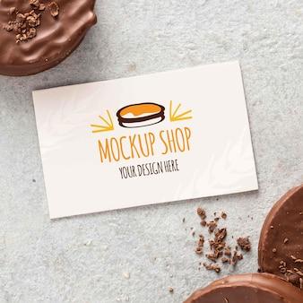 名刺モックアップデザインのalfajorクッキー