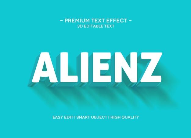 Шаблон стиля текстового эффекта alienz