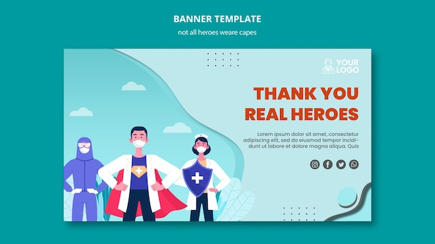 Not all heroes wear capes banner design