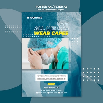 Not all heroes wear capes flyer template