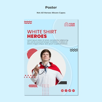 Not all heroes wear template poster