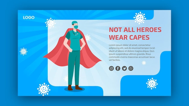 Not all heroes weare capes banner design