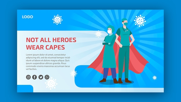 Not all heroes weare capes banner theme