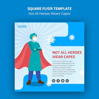 Not all heroes weare capes flyer template