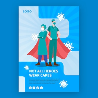 Not all heroes weare capes poster design