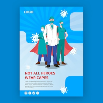 Not all heroes weare capes poster
