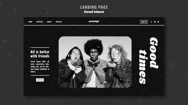 All is better with friends landing page