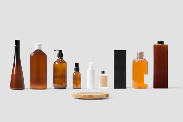 All kinds of bottles mockup