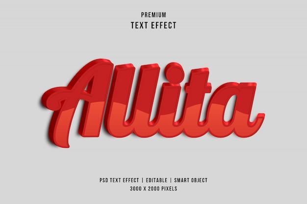 Allita text style effect