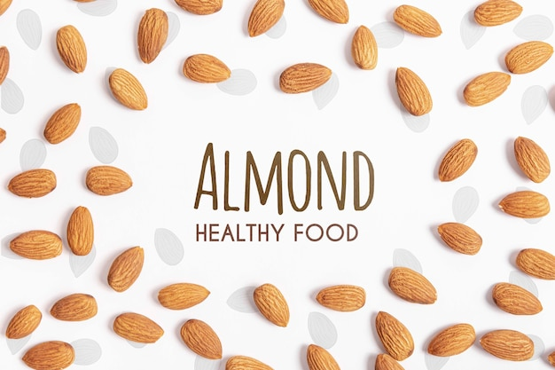 Almond healthy food mock-up
