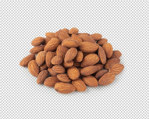 Almonds mockup isolated