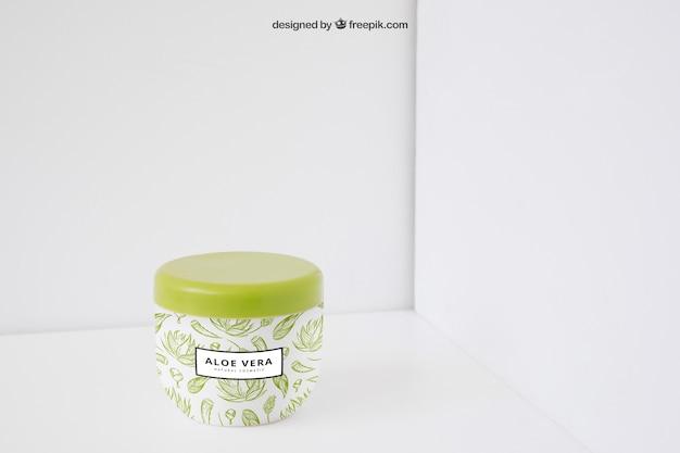 Aloe vera packaging mockup