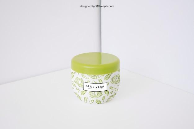Aloe vera product mockup