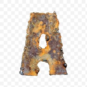 용접 녹슨 금속 시트 격리 pds 파일로 만든 알파벳 문자