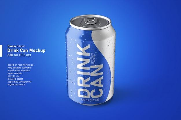 결로를 가진 일정한 크기 모형에있는 알루미늄 소다 음료 광택있는 깡통