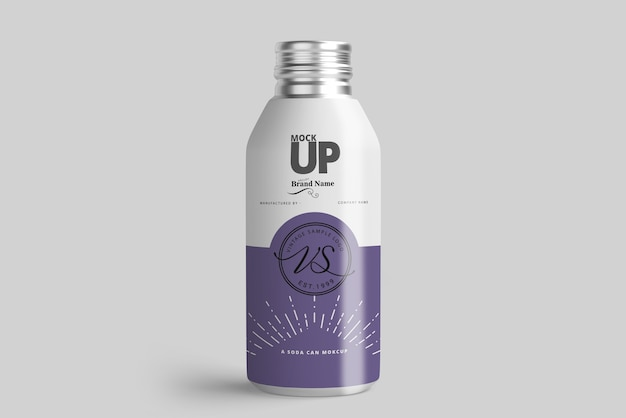 Aluminum bottle mockup