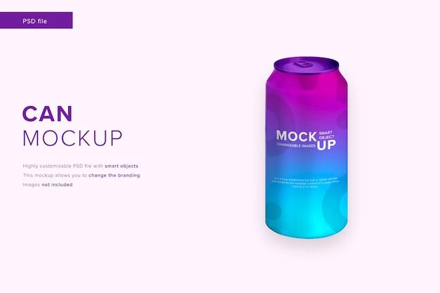 Макет алюминиевой банки для бутылок в стиле современного дизайна