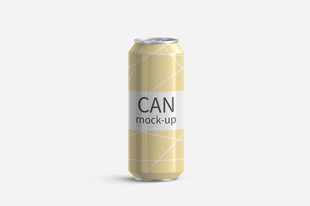 白い背景の上のアルミ缶3dレンダリングモックアップ