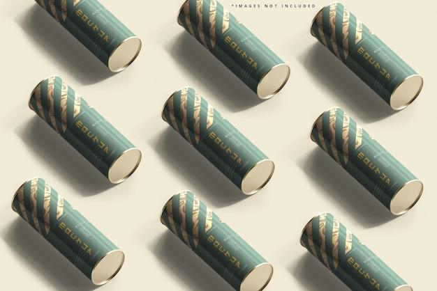 Мокап алюминиевой банки с маслом